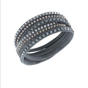 Swarovski Slake Crystal embellished wrap bracelet